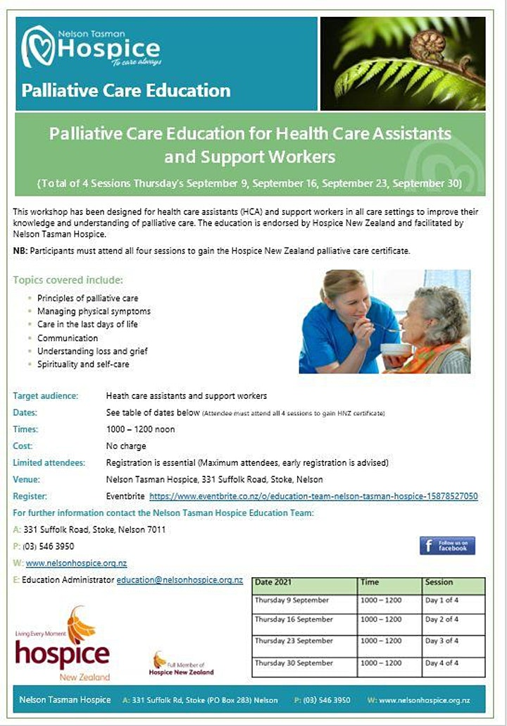 POSTPONED PC for Education for Health Care Assistant/Support Worker(4 Days) image