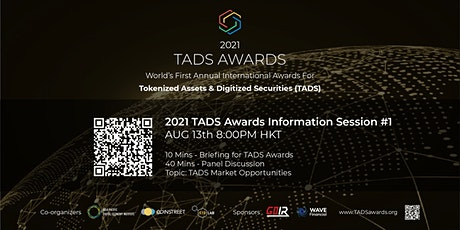 TADS Awards 2021 : Expert Panel Discussion #1 - TADS Market Opportunities biglietti
