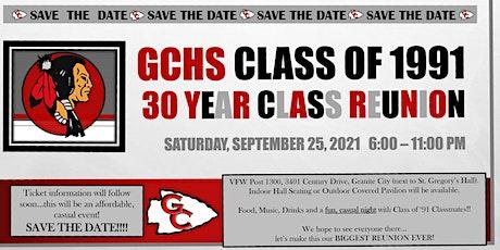 GCHS Class of '91 - 30th Class Reunion tickets