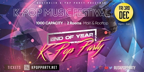 [End of Year Special] Melbourne Kpop Music Fest 2021 [2 Rooms 1000 Capacity tickets