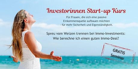 Investorinnen Start-up Kurs  Immobilien Tickets