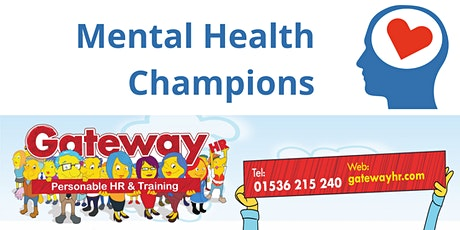 Workplace Mental Health Champions - online delivery tickets