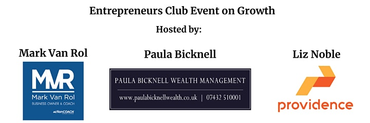 Entrepreneurs Club Event - Growth.  For business owners looking for growth. image