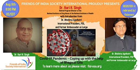 """TALK:""""Covid-19 Pandemic - Coping up with the help of Bhagwat Gita"""" tickets"""