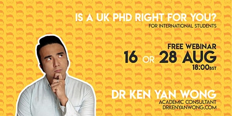 Is a UK PhD Right for You? - For international students tickets
