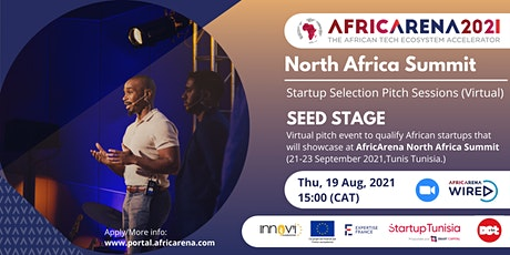 AfricArena North Africa, Virtual Pitch Session - For Seed Startups tickets