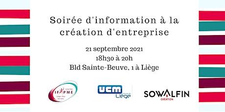 Soirée d'information à la création d'entreprise - Liège Tickets