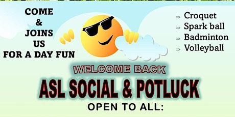 ASL Social & Potluck tickets