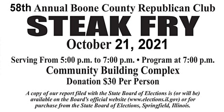 Boone County Republican Club 58th Annual Steak Fry tickets