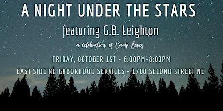 A Night under the Stars featuring G.B. Leighton tickets