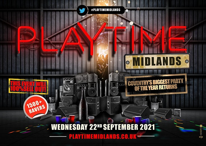 Playtime Midlands - Coventry's Biggest Freshers Party image