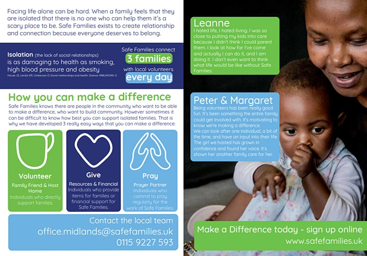 Safe Families-Making a Difference for Vulnerable Families image