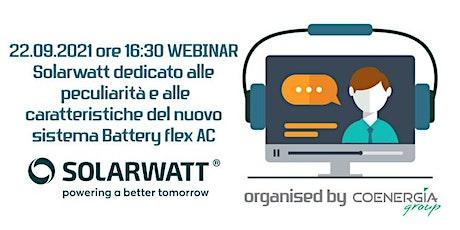 22.09.2021 Webinar Solarwatt dedicato al nuovo sistema Battery flex AC ingressos