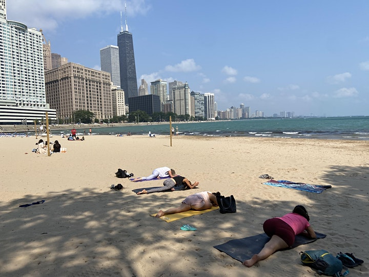 Yoga at Ohio Street Beach image