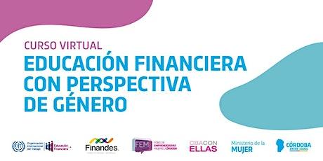 Educación Financiera con Perspectiva de Género para la Economía Familiar boletos