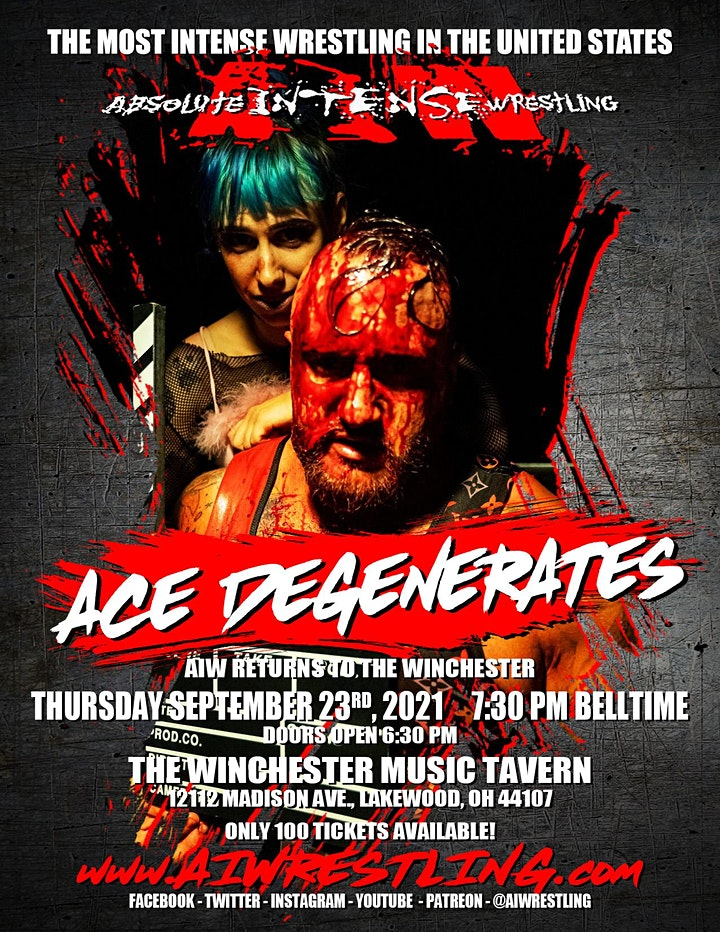 """Absolute Intense Wrestling Presents """"Ace Degenerates"""" image"""