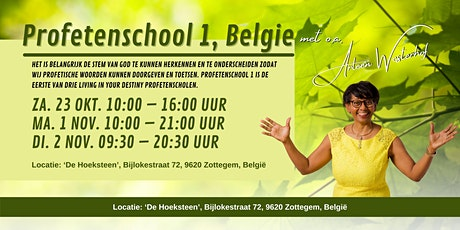 Profetenschool 1 België tickets