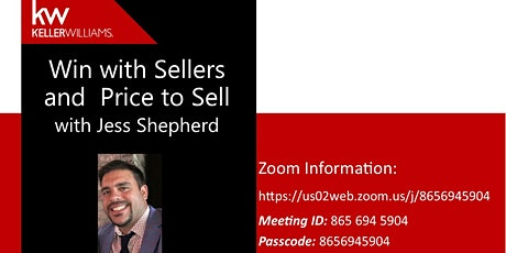 Win with Sellers and Price to Sell with Jess Shepherd tickets