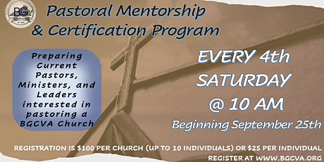 Pastoral Mentorship  & Certification Program tickets