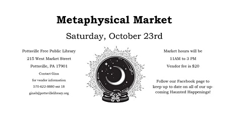 Metaphysical Market Vendor Fee tickets