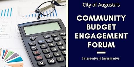 Resilient Augusta Community Budget Engagement Forum tickets