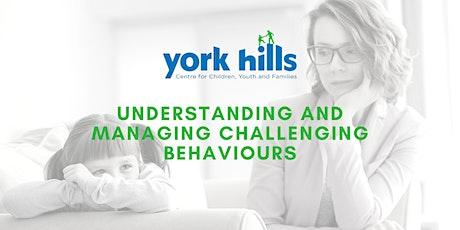 Understanding and Managing Challenging Behaviours tickets