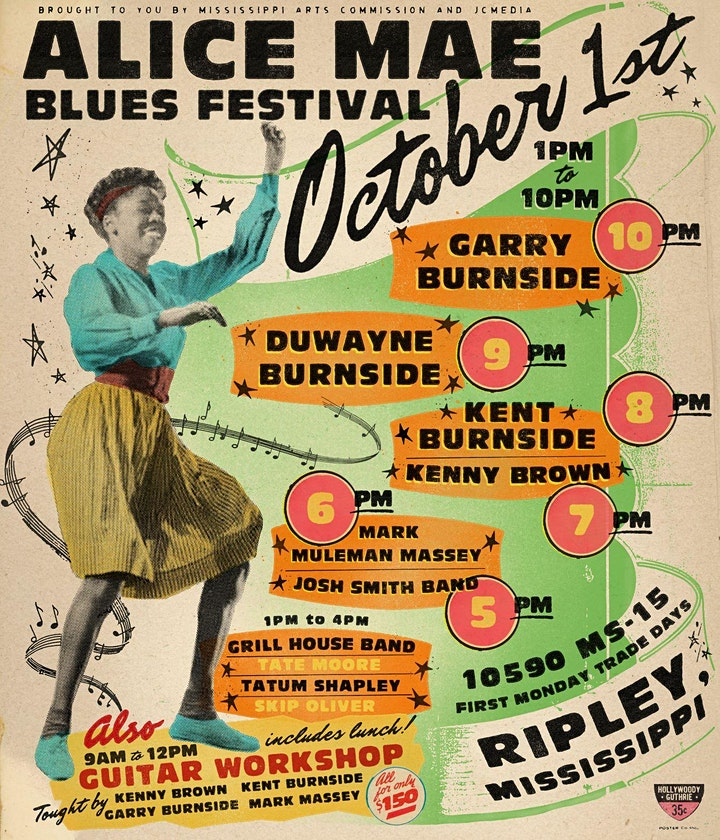 Alice Mae Festival 2021 - Hill Country Blues -  Garry Burnside bringin' it! image