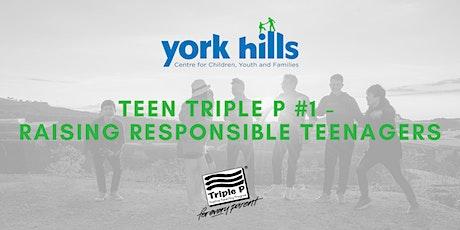 Teen Triple P Seminar #1 - Raising Responsible Teenagers tickets