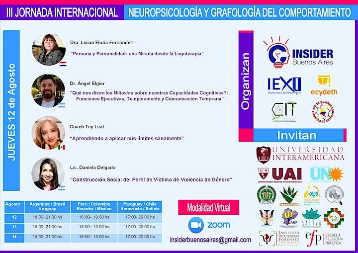 Imagen de 3 JORNADA  INTERNACIONAL   NEUROPSICOLOGÍA  GRAFOLOGÍA  DEL COMPORTAMIENTO