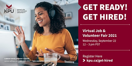 Get Ready! Get Hired! Virtual Job & Volunteer Fair - Exhibitor Registration tickets
