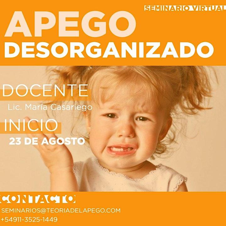 Imagen de + APEGO DESORGANIZADO - enfoque teórico/clínico