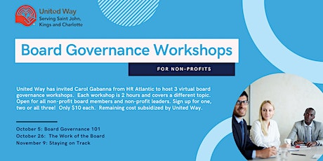 Board Governance Session 3: Staying on Track tickets