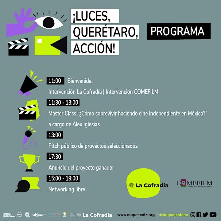 Imagen de ¡Luces, Querétaro, Acción! Evento de networking LA COFRADÍA y DOQUMENTA