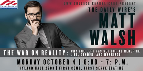 Matt Walsh: The War On Reality tickets