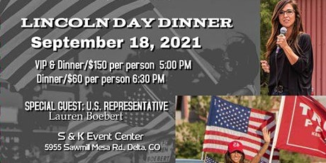 Delta County GOP Lincoln Day Dinner 2021 tickets