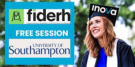 Financiamiento FIDERH para estudiar un posgrado en Southampton boletos
