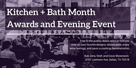 Kitchen + Bath Month Awards and Evening Event tickets