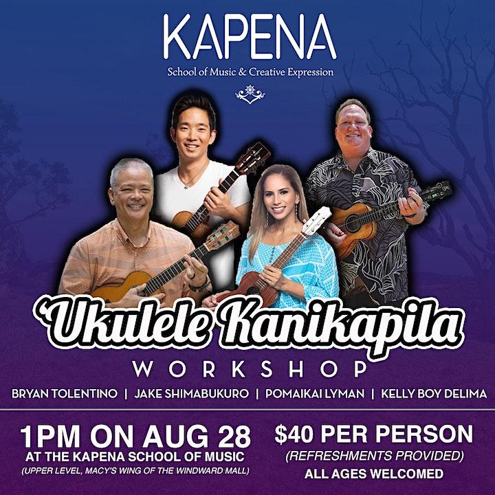 Ukulele Kanikapila Workshop at Kapena School of Music image