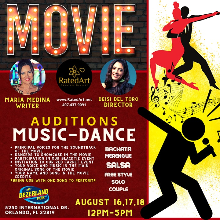 """""""4 Dias"""" Movie- Auditions for MUSIC and DANCE image"""