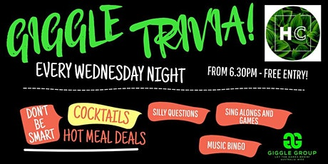 Wednesday Trivia Night Giggle (SHOW!) @ Hotel Carrington The Valley! tickets