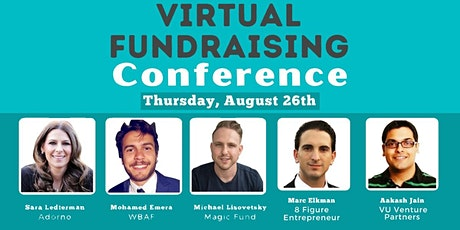 Pitch Startup To VCs - Virtual Fundraising Conference - Aug 26 tickets