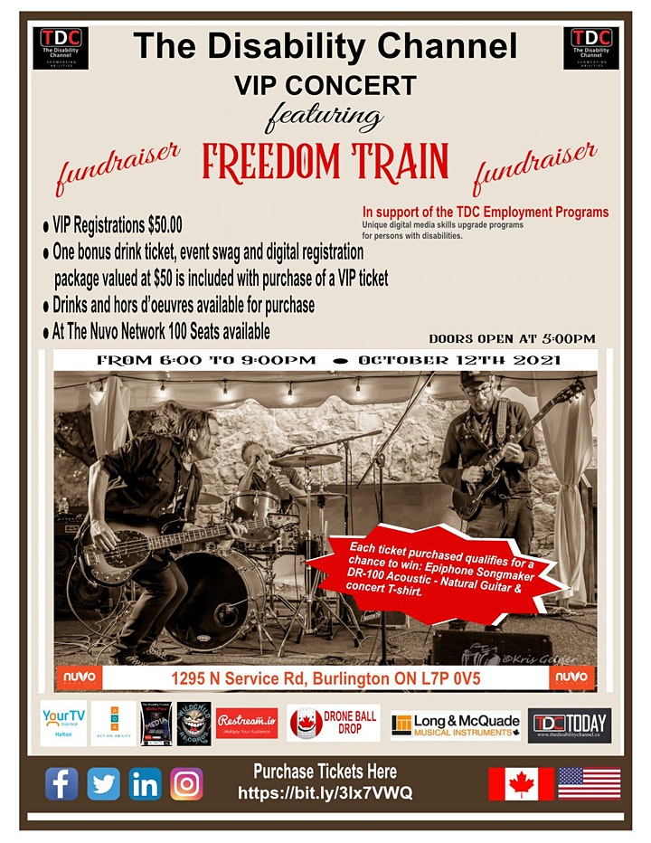 The Disability Channel Fundraiser VIP Concert Featuring Freedom Train image