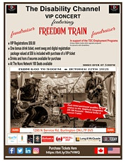 The Disability Channel Fundraiser VIP Concert Featuring Freedom Train tickets