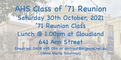 AHS Class of '71 Reunion tickets
