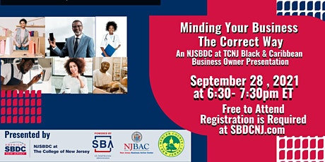 Minding Your Business-The Correct Way-A Black & Caribbean Business Owner tickets