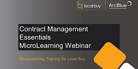 Contract Management Essentials MicroLearning Webinar biglietti
