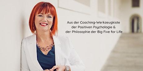 Coaching-Werkzeugkiste der Positiven Psychologie  &  Big Five for Life billets