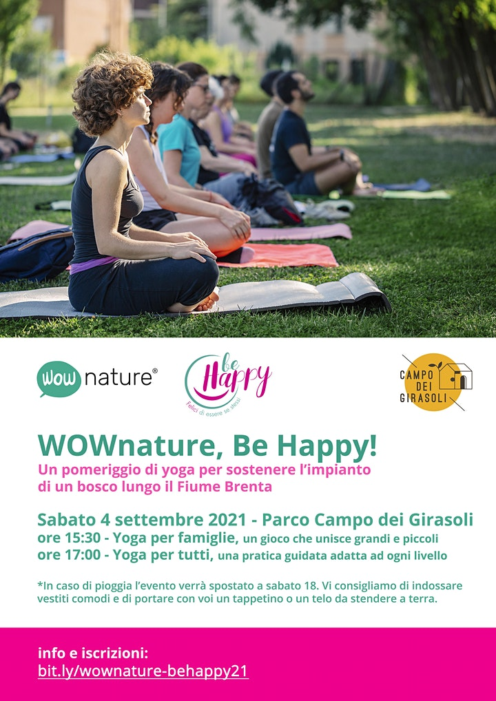 Immagine Lezione di yoga in natura a Padova con WOWnature e BE Happy!