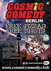 English Comedy Berlin with Pizza and Shots tickets
