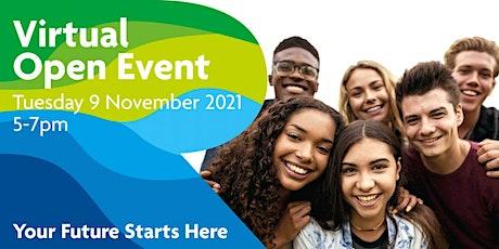 Virtual Open Event Tuesday 9 November 2021 tickets
